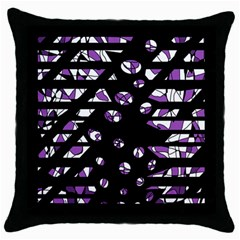 Violet Freedom Throw Pillow Case (black) by Valentinaart