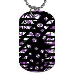 Violet Freedom Dog Tag (one Side) by Valentinaart