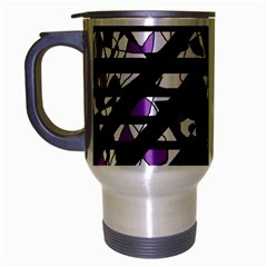 Violet Freedom Travel Mug (silver Gray) by Valentinaart