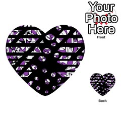 Violet Freedom Multi Purpose Cards (heart)  by Valentinaart