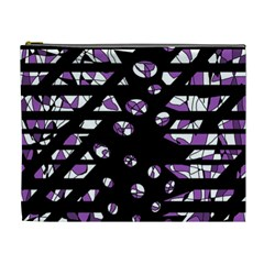Violet Freedom Cosmetic Bag (xl) by Valentinaart