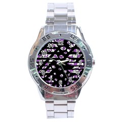 Violet Freedom Stainless Steel Analogue Watch by Valentinaart