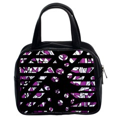 Magenta Freedom Classic Handbags (2 Sides) by Valentinaart