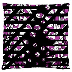 Magenta Freedom Large Cushion Case (one Side) by Valentinaart