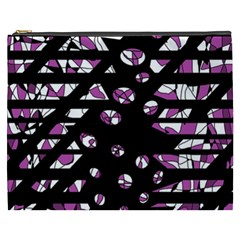 Magenta Freedom Cosmetic Bag (xxxl)  by Valentinaart