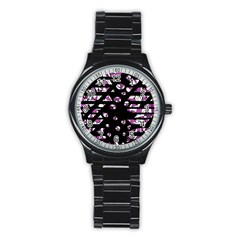 Magenta Freedom Stainless Steel Round Watch by Valentinaart