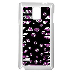 Magenta Freedom Samsung Galaxy Note 4 Case (white) by Valentinaart