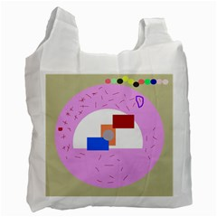 Decorative Abstract Circle Recycle Bag (two Side)  by Valentinaart