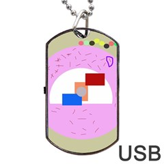 Decorative Abstract Circle Dog Tag Usb Flash (two Sides)  by Valentinaart