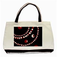 Red Pearls Basic Tote Bag by Valentinaart