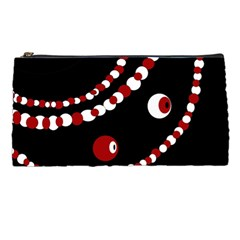 Red Pearls Pencil Cases by Valentinaart