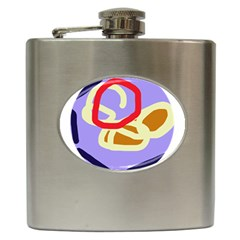 Abstract Circle Hip Flask (6 Oz) by Valentinaart