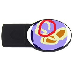 Abstract Circle Usb Flash Drive Oval (2 Gb)  by Valentinaart