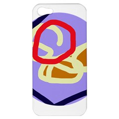 Abstract Circle Apple Iphone 5 Hardshell Case by Valentinaart