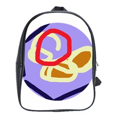 Abstract Circle School Bags (xl)  by Valentinaart