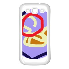 Abstract Circle Samsung Galaxy S3 Back Case (white) by Valentinaart