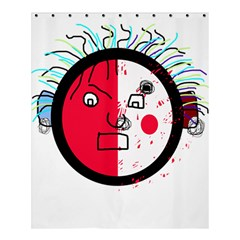 Angry Transparent Face Shower Curtain 60  X 72  (medium)  by Valentinaart