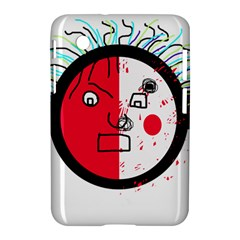 Angry Transparent Face Samsung Galaxy Tab 2 (7 ) P3100 Hardshell Case  by Valentinaart