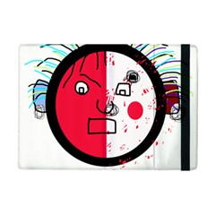 Angry Transparent Face Ipad Mini 2 Flip Cases by Valentinaart