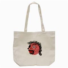 Abstract Face Tote Bag (cream) by Valentinaart