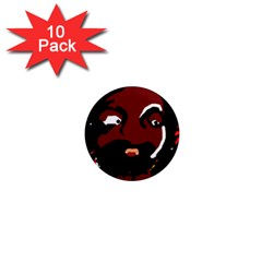 Abstract Face  1  Mini Magnet (10 Pack)  by Valentinaart