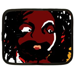 Abstract Face  Netbook Case (large) by Valentinaart