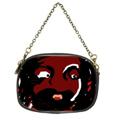 Abstract Face  Chain Purses (one Side)  by Valentinaart