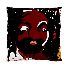 Abstract Face  Standard Cushion Case (one Side) by Valentinaart