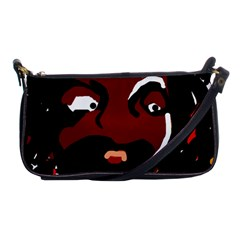 Abstract Face  Shoulder Clutch Bags by Valentinaart
