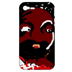 Abstract Face  Apple Iphone 4/4s Hardshell Case (pc+silicone) by Valentinaart