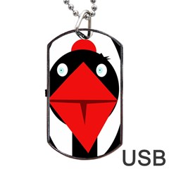 Duck Dog Tag Usb Flash (one Side) by Valentinaart