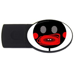 Face Usb Flash Drive Oval (2 Gb)  by Valentinaart