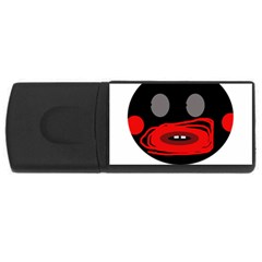 Face Usb Flash Drive Rectangular (4 Gb)  by Valentinaart