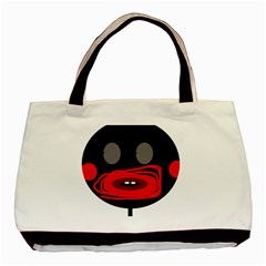Face Basic Tote Bag (two Sides) by Valentinaart