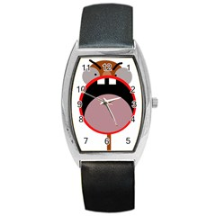 Funny Face Barrel Style Metal Watch by Valentinaart