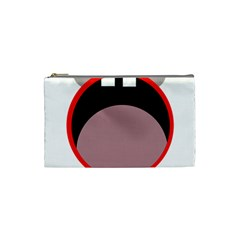 Funny Face Cosmetic Bag (small)  by Valentinaart