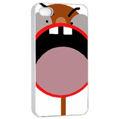 Funny Face Apple Iphone 4/4s Seamless Case (white) by Valentinaart