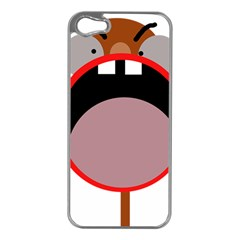 Funny Face Apple Iphone 5 Case (silver) by Valentinaart