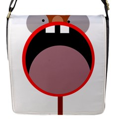 Funny Face Flap Messenger Bag (s) by Valentinaart