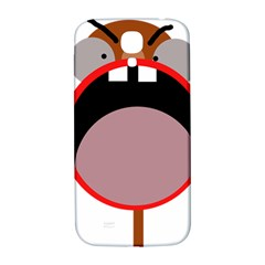Funny Face Samsung Galaxy S4 I9500/i9505  Hardshell Back Case by Valentinaart