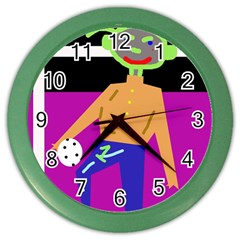 Goalkeeper Color Wall Clocks by Valentinaart