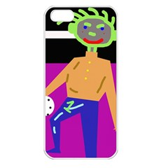 Goalkeeper Apple Iphone 5 Seamless Case (white) by Valentinaart