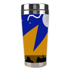 Decorative Abstraction Stainless Steel Travel Tumblers by Valentinaart