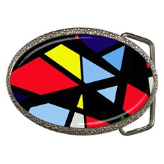 Colorful Geomeric Desing Belt Buckles by Valentinaart