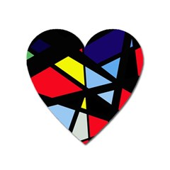 Colorful Geomeric Desing Heart Magnet by Valentinaart
