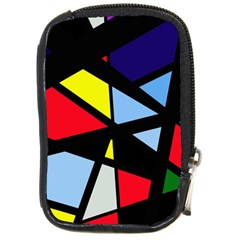 Colorful Geomeric Desing Compact Camera Cases by Valentinaart