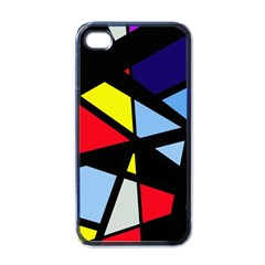 Colorful Geomeric Desing Apple Iphone 4 Case (black) by Valentinaart