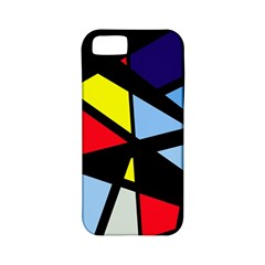 Colorful Geomeric Desing Apple Iphone 5 Classic Hardshell Case (pc+silicone) by Valentinaart
