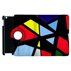 Colorful Geomeric Desing Apple Ipad 2 Flip 360 Case by Valentinaart