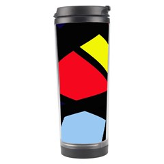Colorful Geomeric Desing Travel Tumbler by Valentinaart
